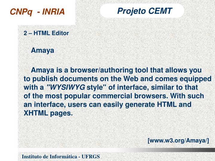 2 – HTML Editor
