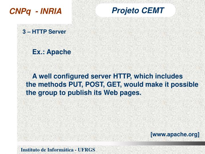 3 – HTTP Server