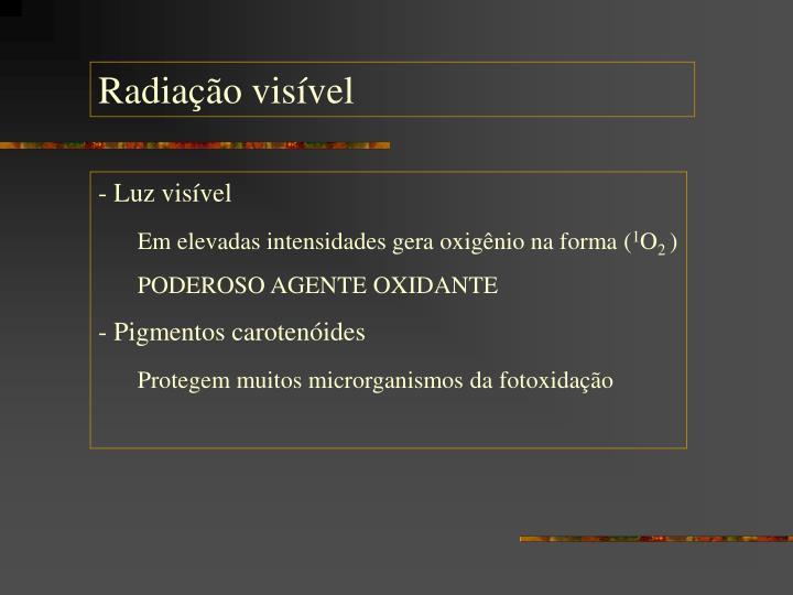 Radiação visível