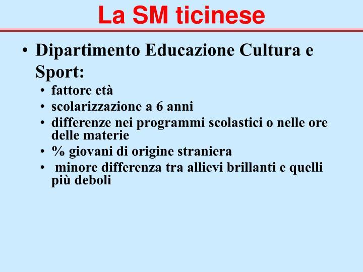 Dipartimento Educazione Cultura e Sport: