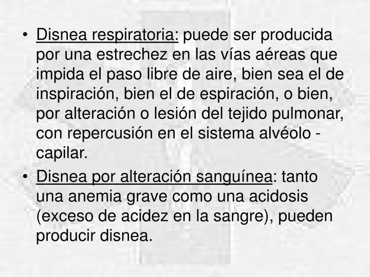 Disnea respiratoria:
