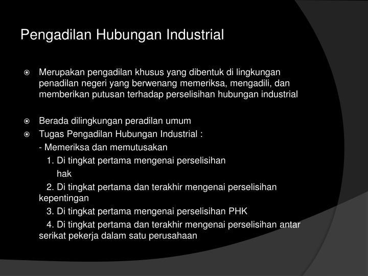Pengadilan Hubungan Industrial