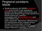 pergeseran paradigma msdm