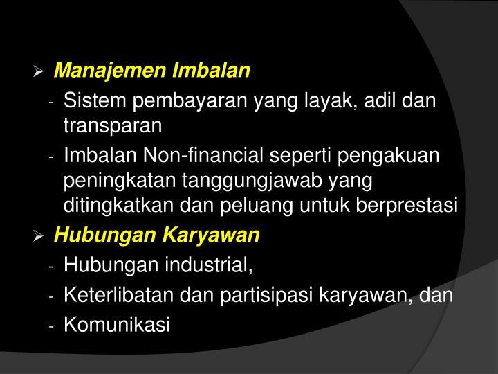 Manajemen Imbalan