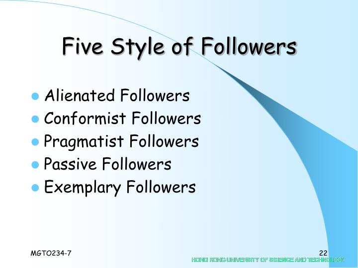 Five Style of Followers