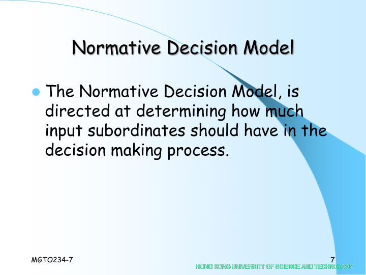 Normative Decision Model