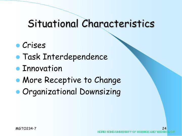 Situational Characteristics