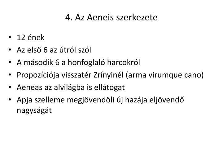 4. Az Aeneis szerkezete
