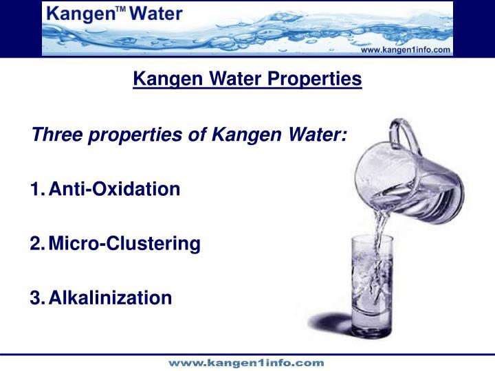 Kangen Water Properties