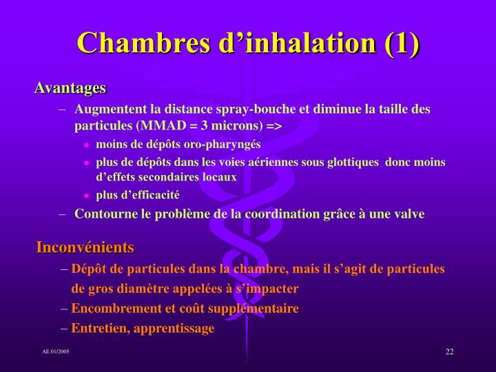 Chambres d'inhalation (1)