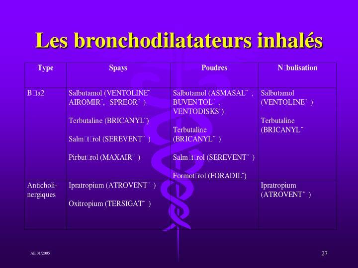 Les bronchodilatateurs inhalés