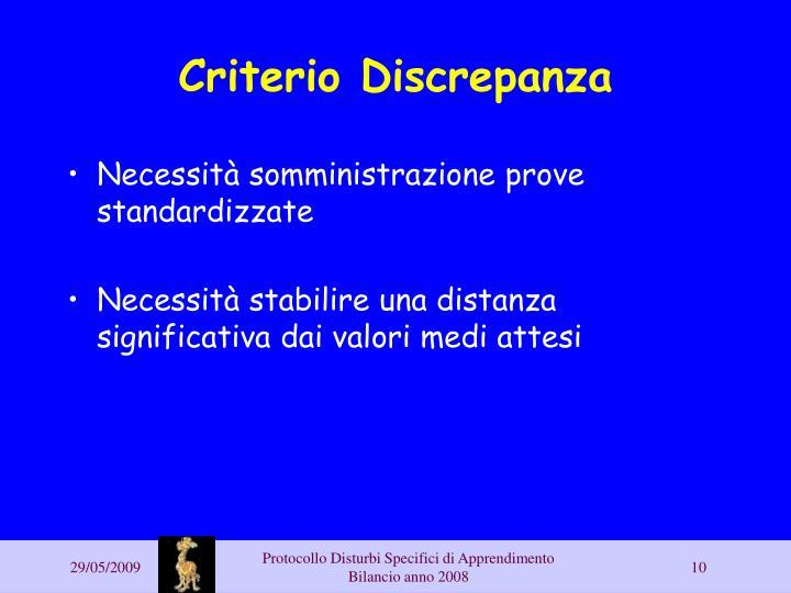 Criterio Discrepanza