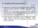 6 visibility environment