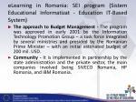 elearning in romania sei program sistem educational informatizat education it based system4