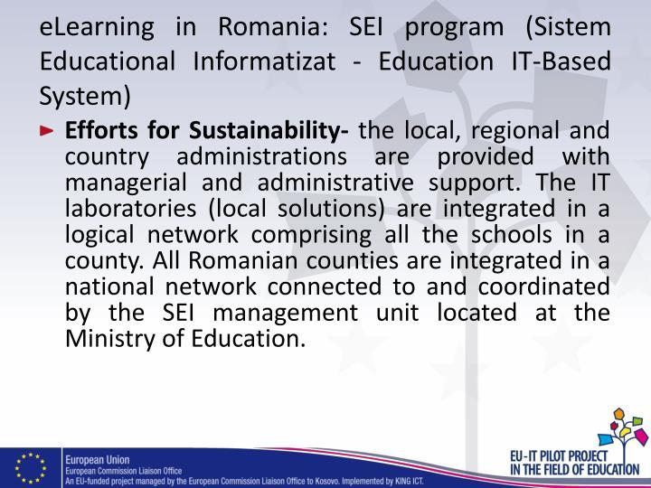 eLearning in Romania: