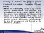 elearning in romania sei program sistem educational informatizat education it based system5
