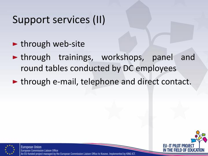 Support services (II)