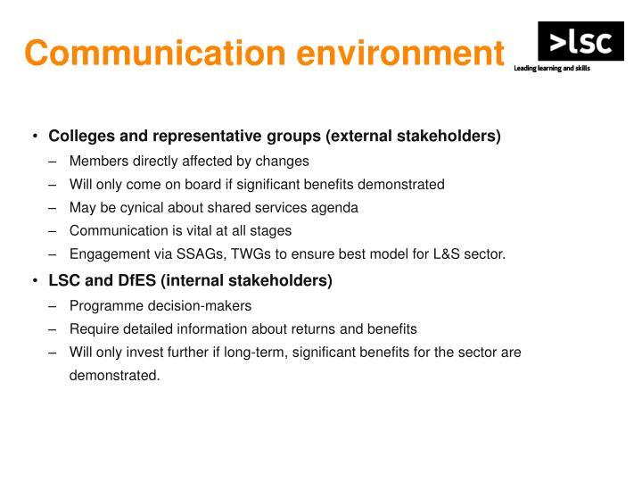 Communication environment