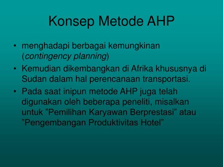 Konsep Metode AHP