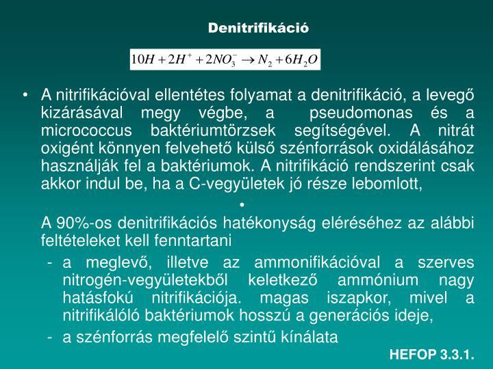 Denitrifikáció