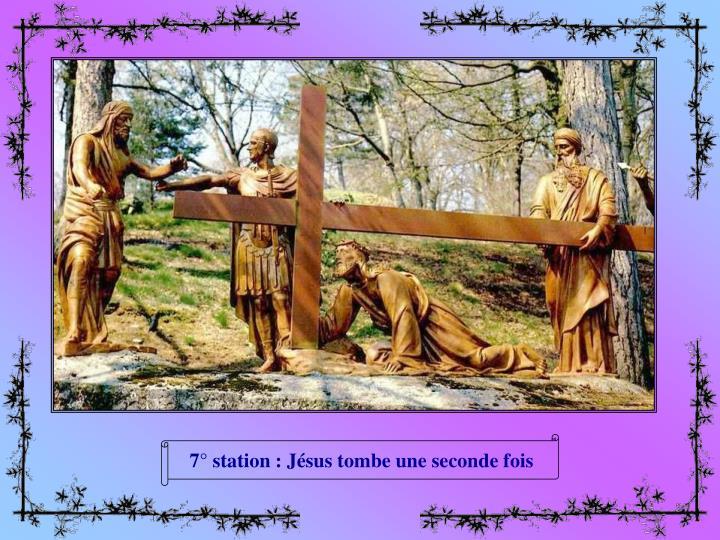 7° station : Jésus tombe une seconde fois
