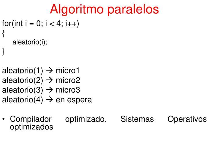 Algoritmo paralelos