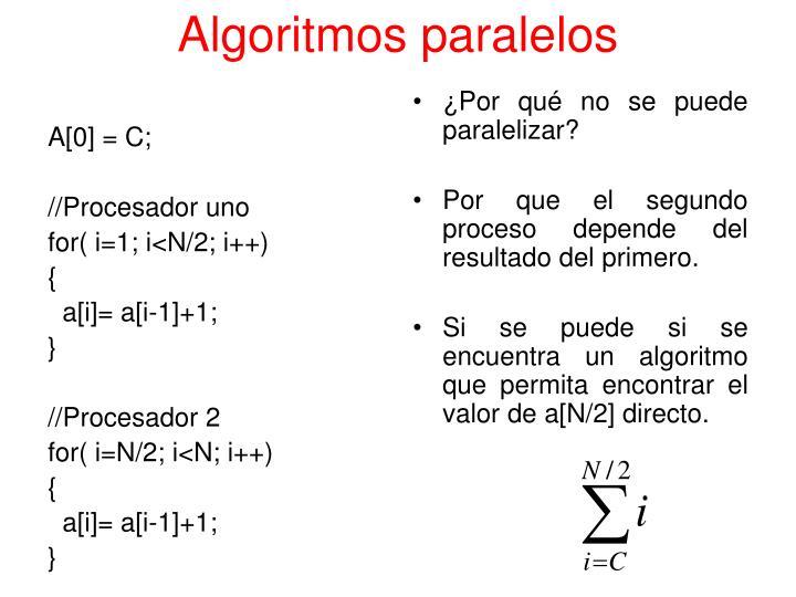 Algoritmos paralelos