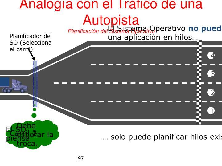 Analogía con el Tráfico de una Autopista