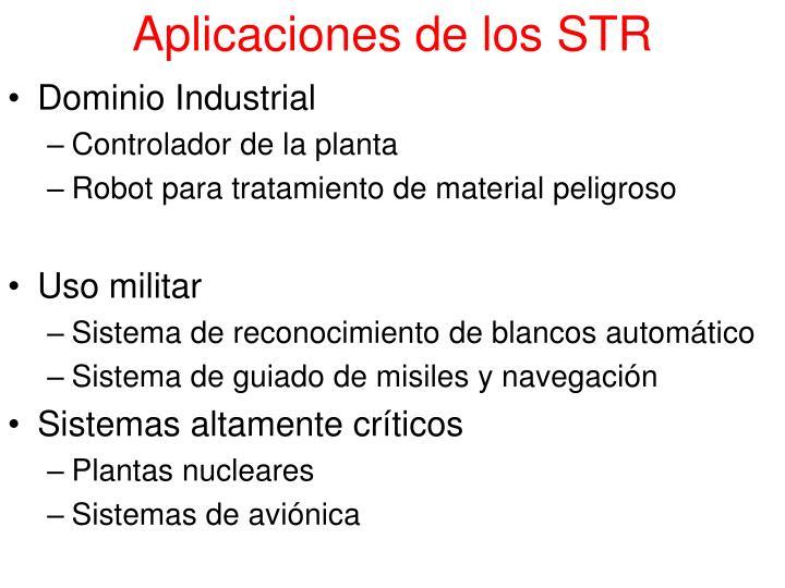 Aplicaciones de los STR