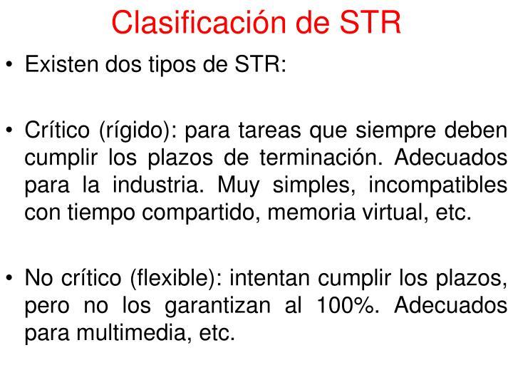 Clasificación de STR