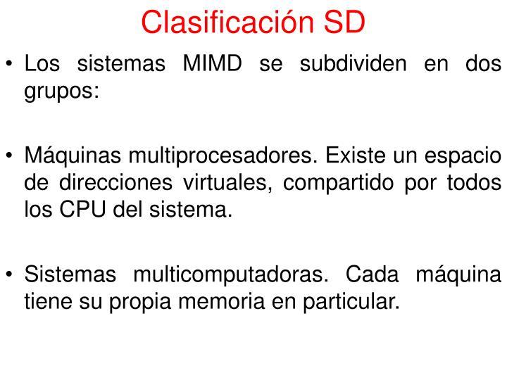 Clasificación SD
