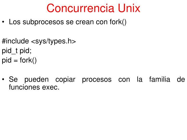 Concurrencia Unix