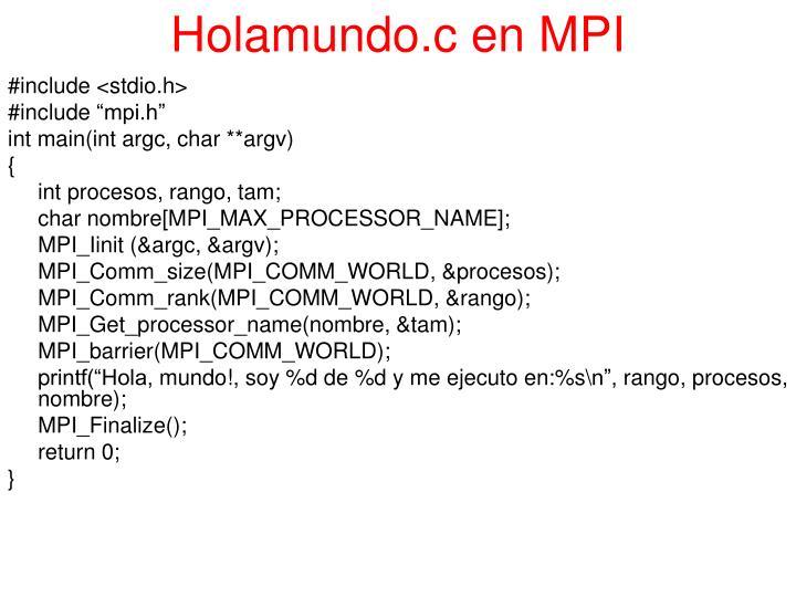 Holamundo.c en MPI