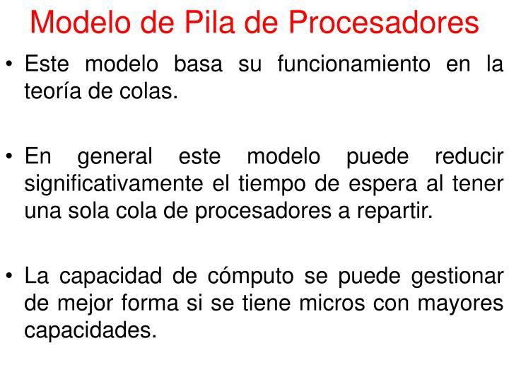 Modelo de Pila de Procesadores