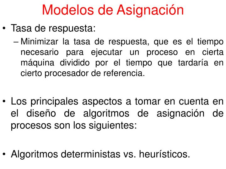 Modelos de Asignación
