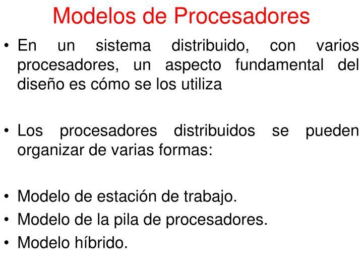 Modelos de Procesadores