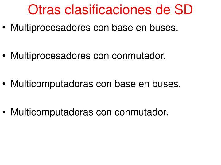 Otras clasificaciones de SD