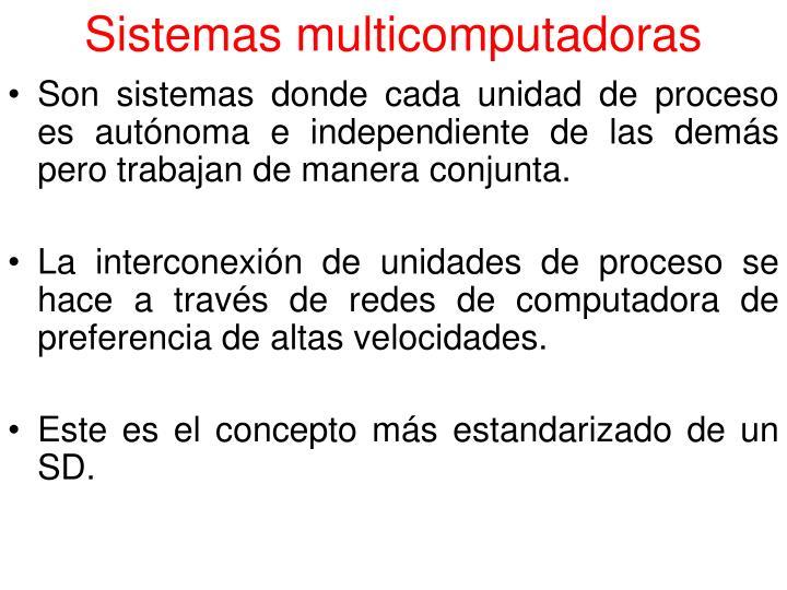 Sistemas multicomputadoras