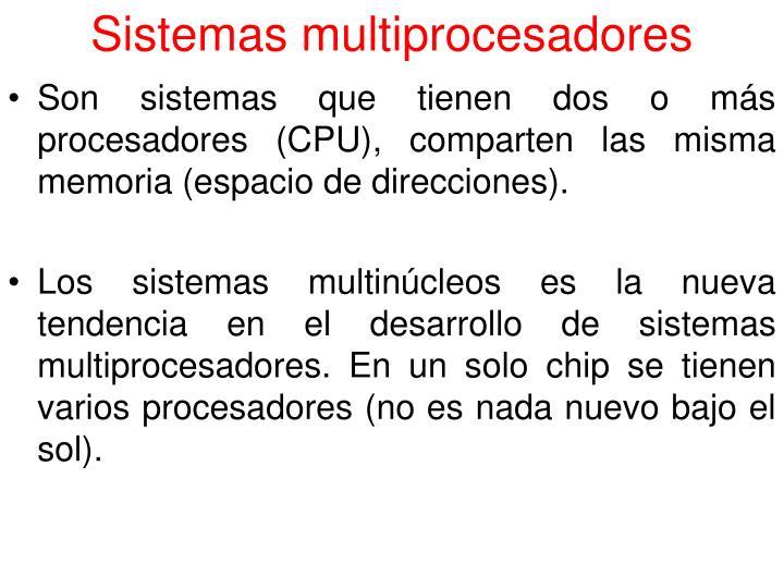 Sistemas multiprocesadores