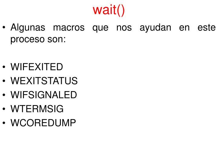 wait()