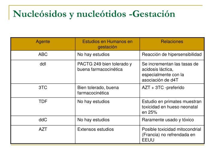 Nucleósidos y nucleótidos -Gestación