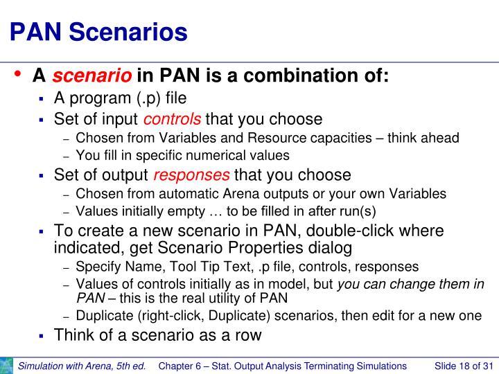 PAN Scenarios
