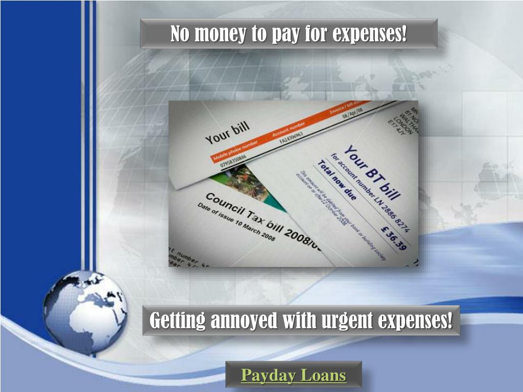 No money to pay for expenses!