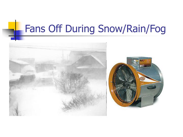 Fans Off During Snow/Rain/Fog