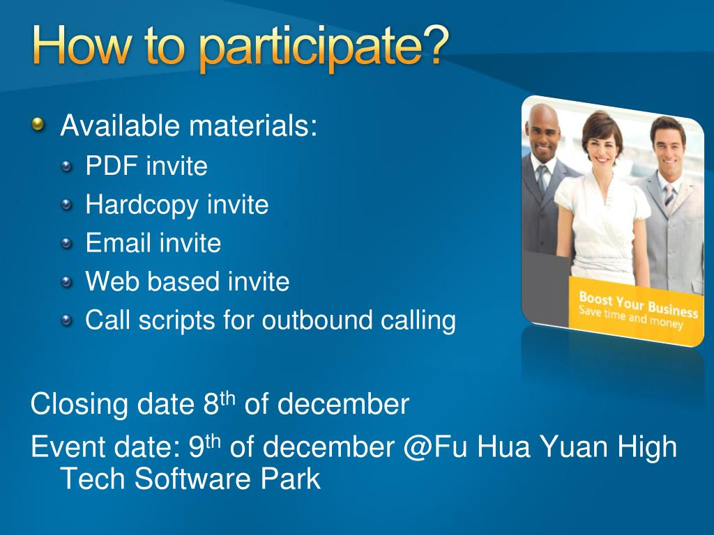 How to participate?