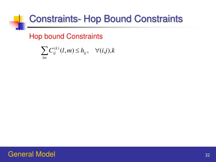 Constraints- Hop Bound Constraints