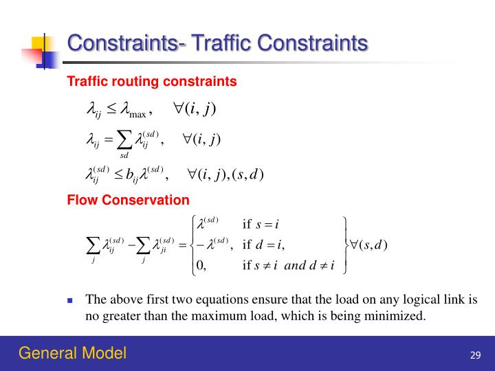 Constraints- Traffic Constraints