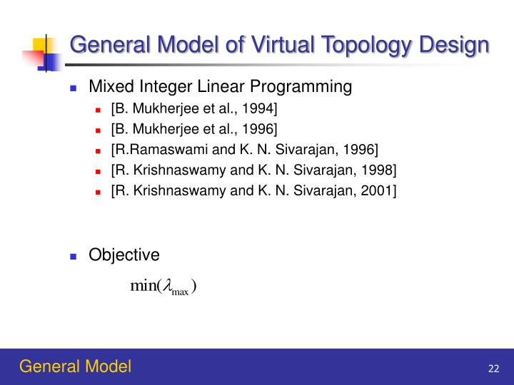 General Model of Virtual Topology Design
