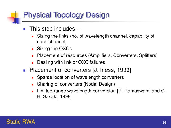 Physical Topology Design