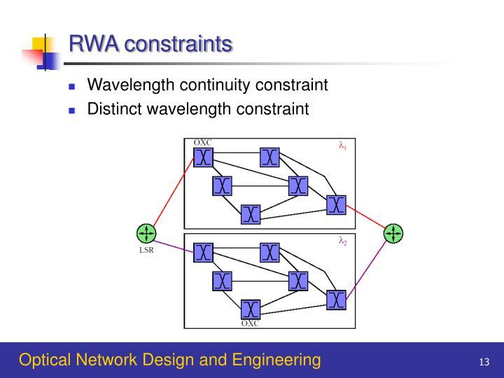 RWA constraints